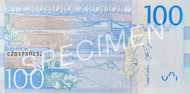 SEK rewers korony szwedzkiej (waluty Szwecji)
