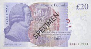 Wielka Brytania waluta – funt brytyjski (rewers)