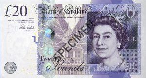 Wielka Brytania waluta – funt brytyjski (awers)