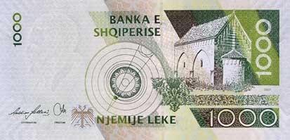 Lek albański ALL – waluta Albanii (rewers)