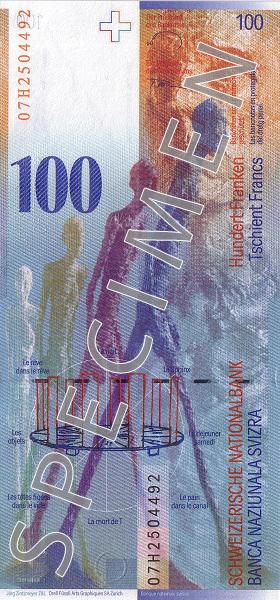 CHF rewers franka szwajcarskiego (waluty Szwajcarii)