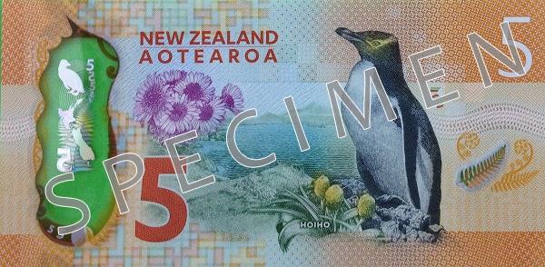 NZD rewers dolara nowozelandzkiego (waluty Nowej Zelandii)