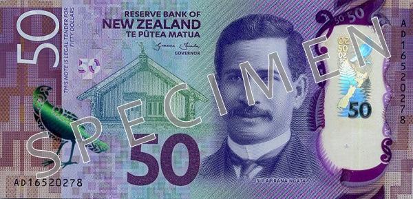 Nowa Zelandia waluta – dolar nowozelandzki (awers)