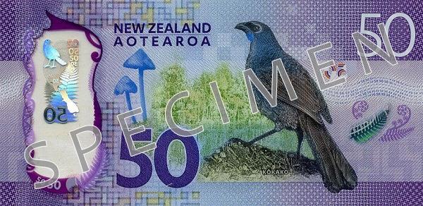 Nowa Zelandia waluta – dolar nowozelandzki (rewers)