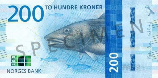 Korona norweska NOK – waluta Norwegii (awers)