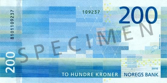 Korona norweska NOK – waluta Norwegii (rewers)