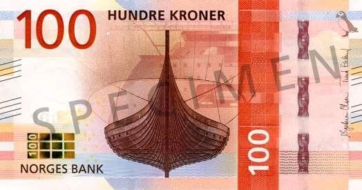 Norwegia waluta – korona norweska (awers)