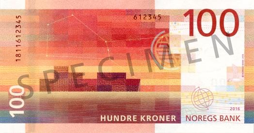 Norwegia waluta – korona norweska (rewers)