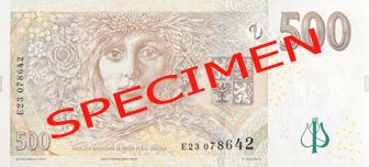 CZK rewers korony czeskiej (waluty Czech)
