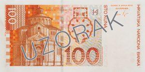 Chorwacja waluta – kuna chorwacka (rewers)