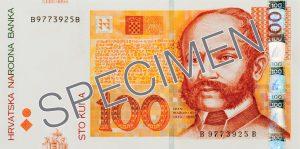 Chorwacja waluta – kuna chorwacka (awers)