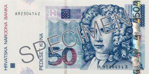 Kuna chorwacka HRK – waluta Chorwacji (awers)