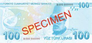 Turcja waluta – lira turecka (rewers)