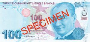 Turcja waluta – lira turecka (awers)