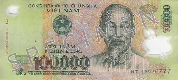 Wietnam waluta – dong wietnamski (awers)