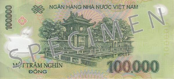 Wietnam waluta – dong wietnamski (rewers)
