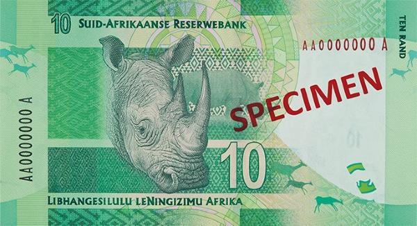 RPA waluta – rand południowoafrykański (awers)