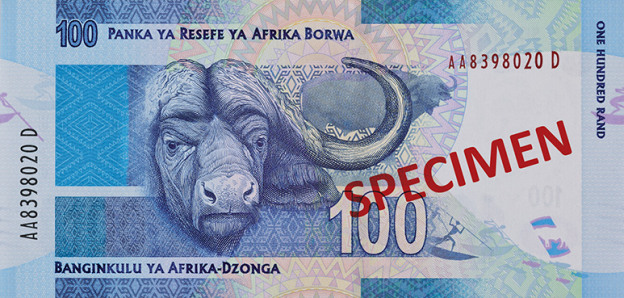 ZAR awers randa południowoafrykańskiego (waluty RPA)