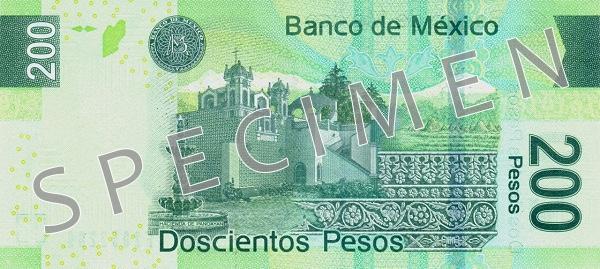 Peso meksykańskie MXN – waluta Meksyku (rewers)