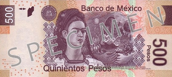 Meksyk waluta – peso meksykańskie (awers)