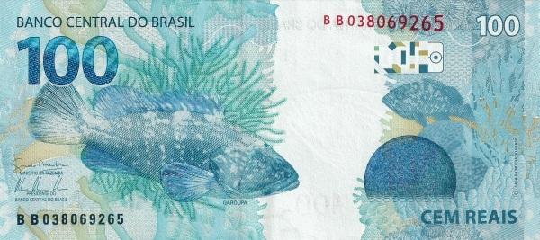 Real brazylijski BRL – waluta Brazylii (rewers)
