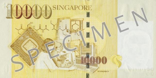 SGD rewers dolara singapurskiego (waluty Singapuru)