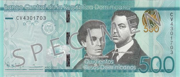 DOP awers peso dominikańskiego (waluty Dominikany)
