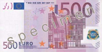 Stare 500 euro wycofane z produkcji