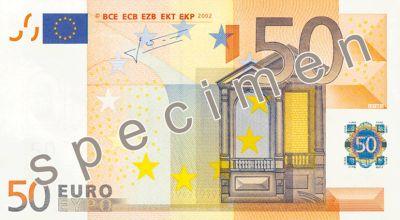 Stare 50 euro wycofane z produkcji