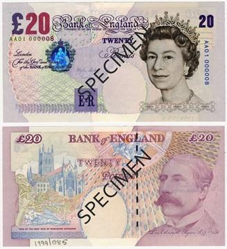 Stare 20 funtów wycofane z obiegu