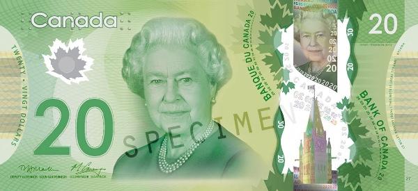 Kanada waluta – dolar kanadyjski (awers)