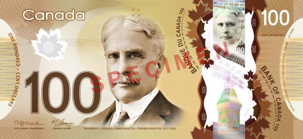 Dolar kanadyjski CAD – waluta Kanady (awers)