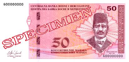 BAM Bośnia waluta – awers marki bośniackiej