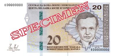 BAM awers marki bośniackiej (waluty Bośni i Hercegowiny)