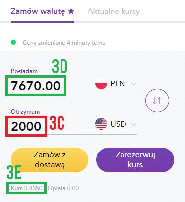 Wymiana waluty – kantor Tavex z dostawą