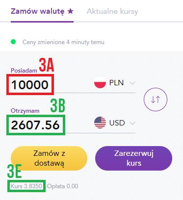 Wymiana waluty – dostawa kurierem od Tavex