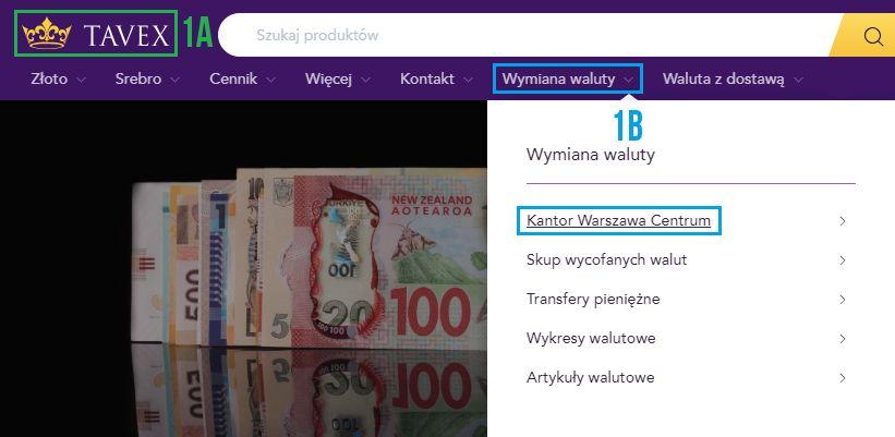 Waluta z dostawą (krok 1)