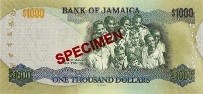 JMD rewers dolara jamajskiego (waluty Jamajki)