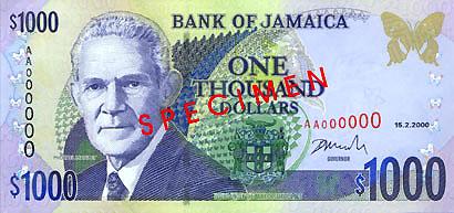 JMD awers dolara jamajskiego (waluty Jamajki)