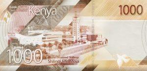 Szyling kenijski KES – waluta Kenii (rewers)