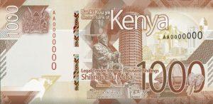 Szyling kenijski KES– waluta Kenii (awers)