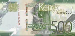 Waluta Kenii – szeling kenijski (awers)
