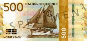 Wycofane korony norweskie – banknot nowe 500 NOK