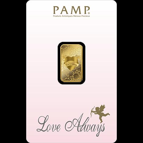 Złoto na prezent dla pary młodej – PAMP Serce