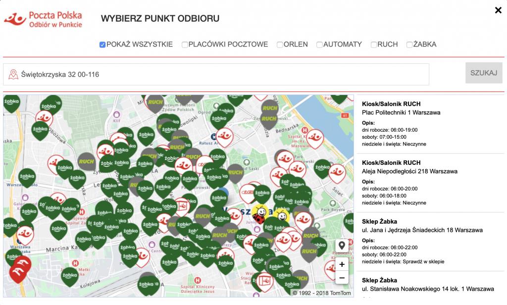 Tavex – punkty odbioru zamówienia w całej Polsce!