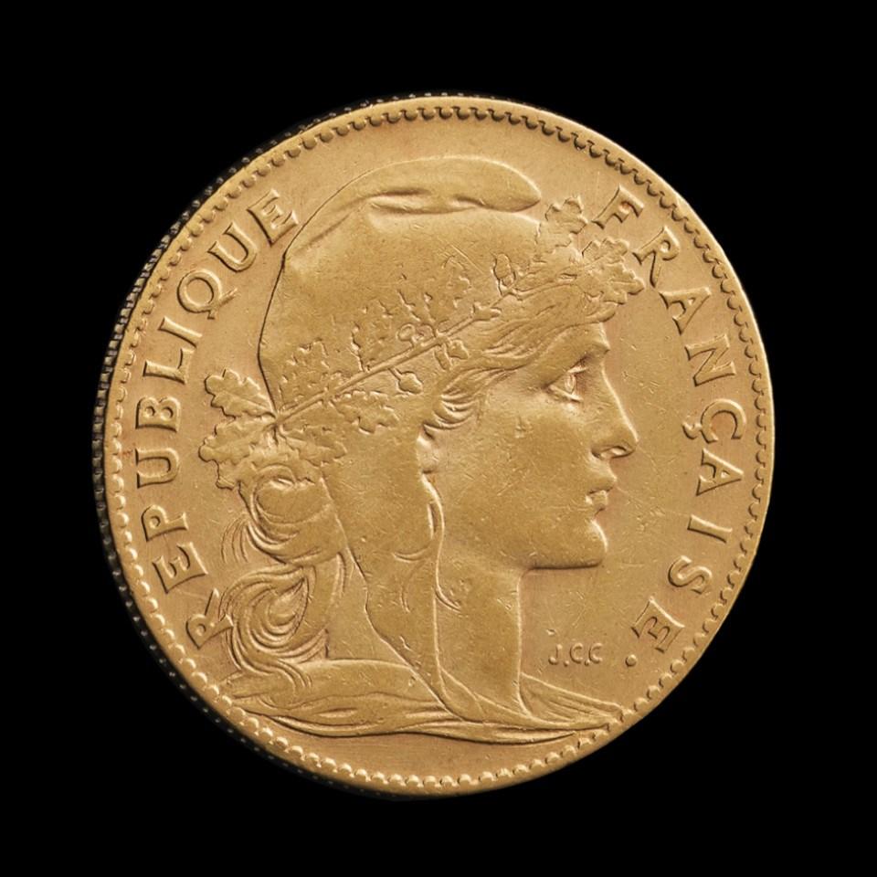 Jak zainwestować małą kwotę w złoto? Francuskie 20 Franków w Tavex