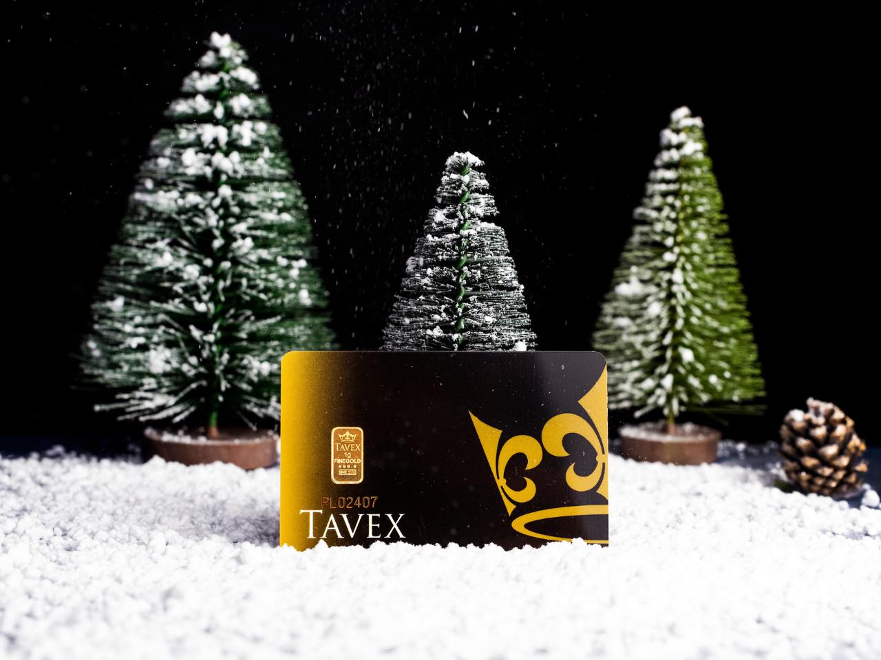 Sztabka złota Tavex 1 g – złoto na prezent świąteczny