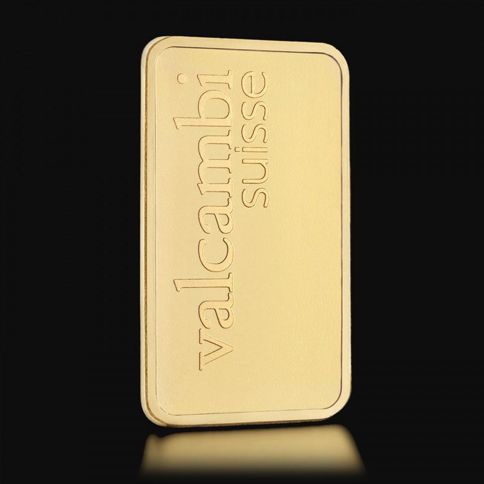 Złota sztabka Valcambi 1 g – prezent świąteczny